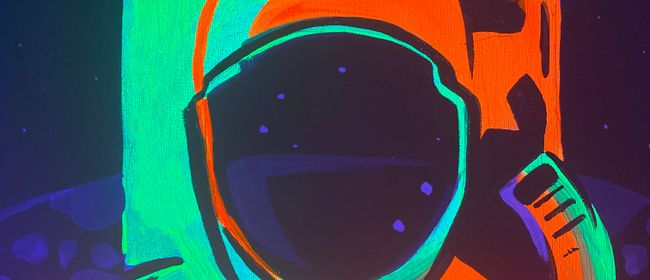 Glow in the Dark Paint Night - Astronaut