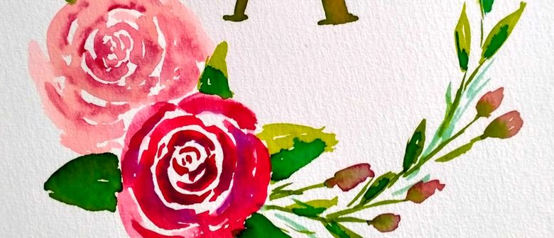 Watercolour & Wine Night - Wreath Painting