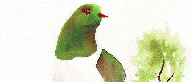 Watercolour & Sip - Kereu