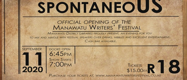 Opening Night of the Manawatu Writers' Festival 2020