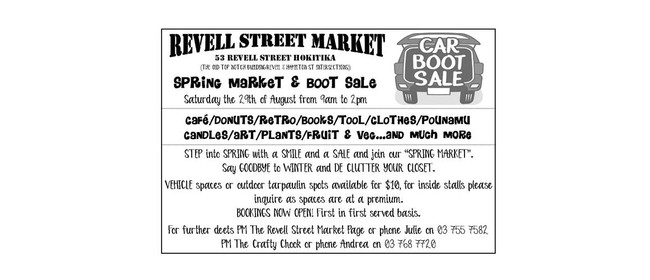Hokitika Spring Market and Car Boot Sale