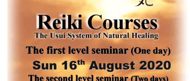 Reiki Course Level 1, 2 and 3
