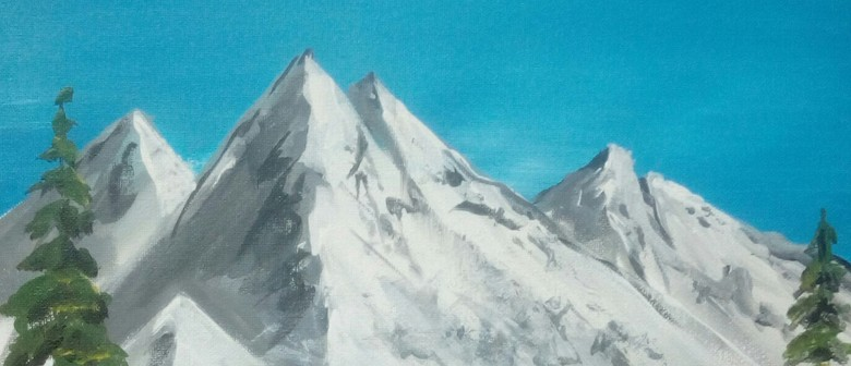 Paint and Wine Night - Snowy Mountains