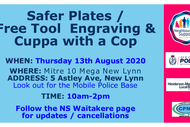 Safer Plates & Tool Engraving & Cuppa with a Cop: CANCELLED
