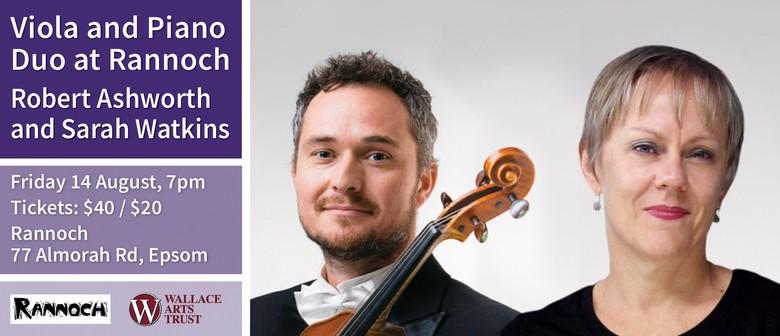 Viola and Piano Duo with Robert Ashworth and Sarah Watkins