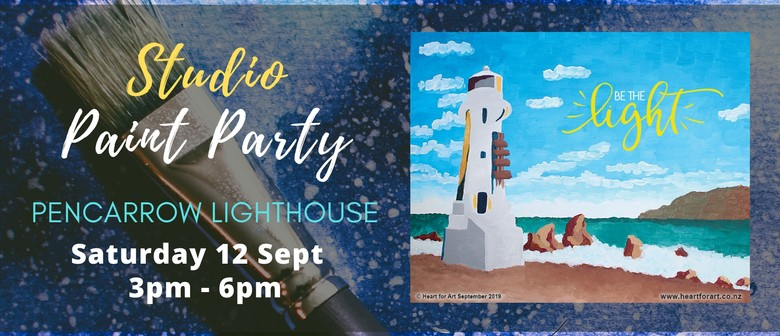 Paint Your Own Pencarrow Lighthouse with Heart for Art NZ