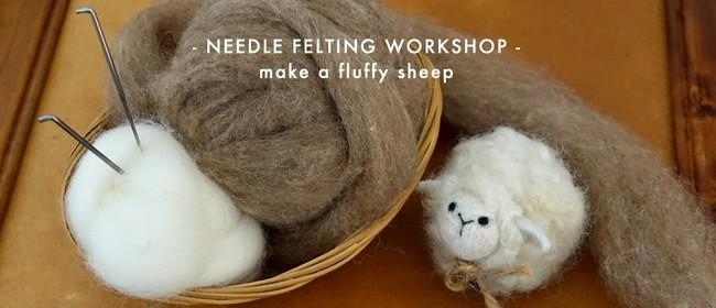 Beginner Needle Felting Workshop - Make a Fluffy Sheep