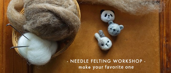 Beginner Needle Felting Workshop- Make a Wee Animal Pin