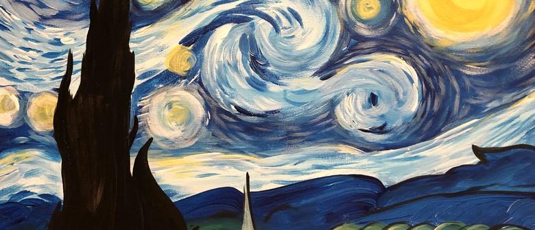 Paint & Wine Night - Starry Night