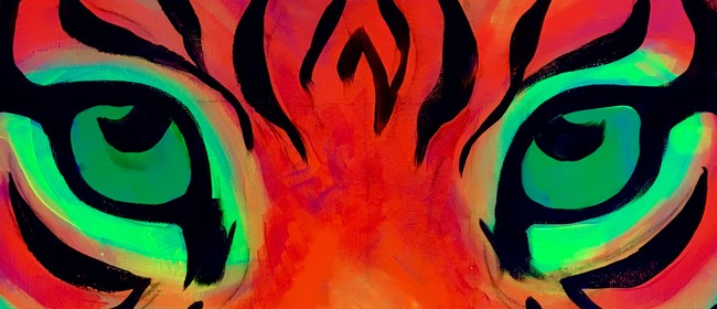 Glow in the Dark Paint Night - Fire Tiger