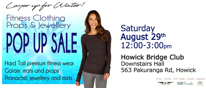 Howick Fitness Clothing Props and Jewellery Pop Up Sale