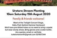 Re-Naturing Katikati Taiao Uretara River Planting Day