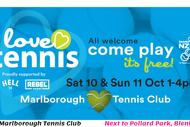 Love Tennis - Open Days - Marlborough Tennis Club