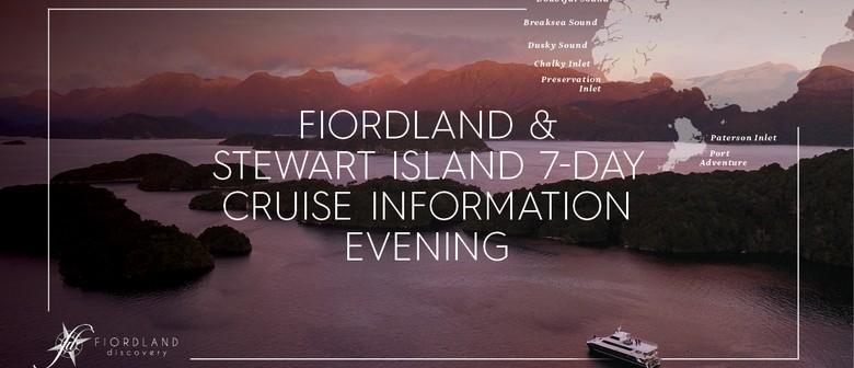 Fiordland and Stewart Island Cruises - Information Evening: POSTPONED
