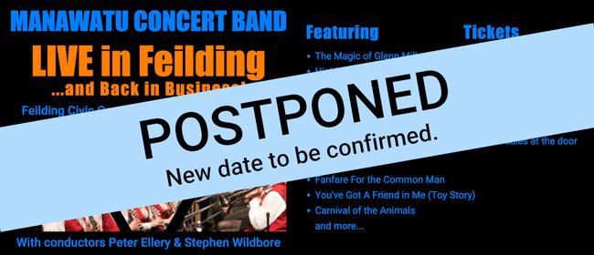 Manawatu Concert Band ***Postponed ***  - Live in Feilding