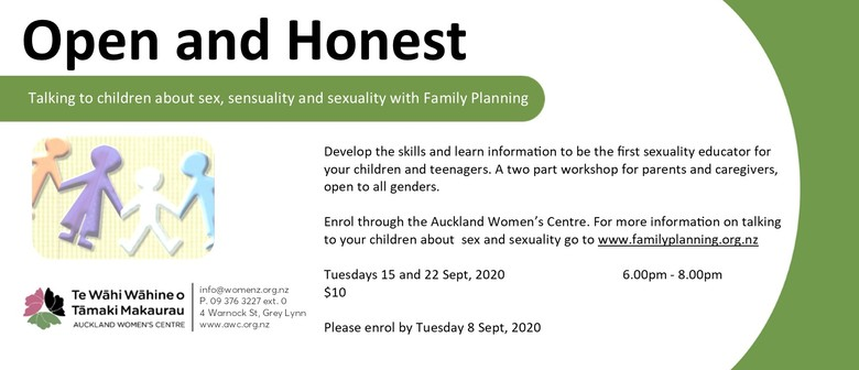 Open and Honest: Talking to Children About Sex and Sexuality: POSTPONED