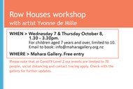 Row Houses Workshop With Artist Yvonne De Mille