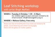 Leaf Stitching Workshop With Artist Birgit Moffatt