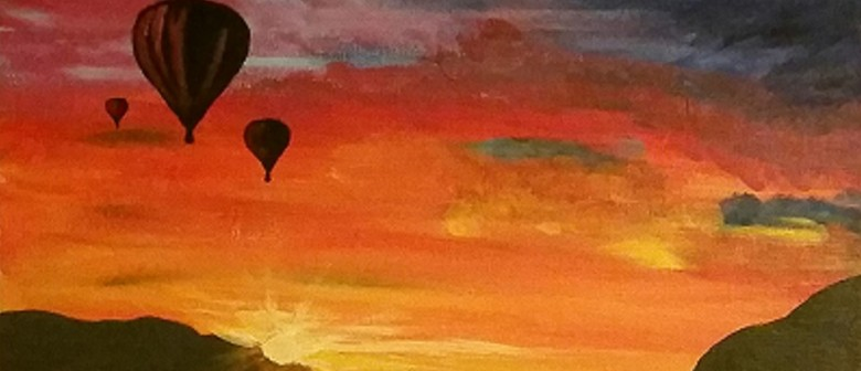 Wine and Paint Party - Balloon Sunset Painting