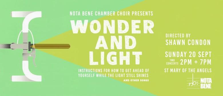 Nota Bene presents Wonder and Light: 2 concerts