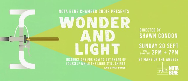 Nota Bene presents Wonder and Light: 2 concerts
