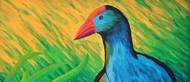 Create Your Own Pukeko Painting with Heart for Art