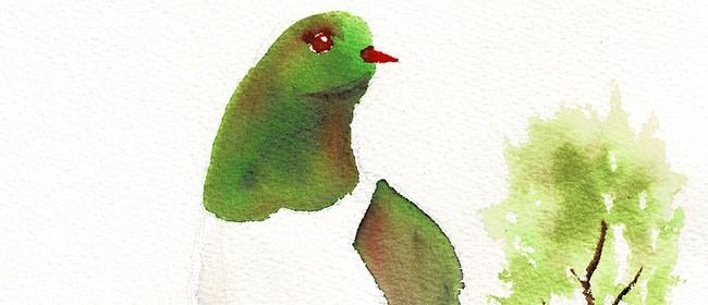 Watercolour & Wine - Kereru