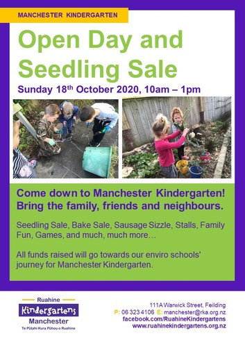 Manchester Kindergarten Open Day & Seedling Sale