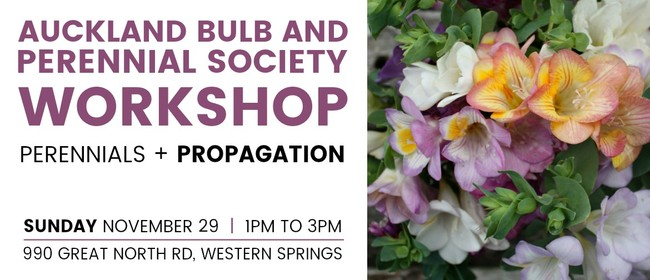 Auckland Bulb And Perennial Society Workshop