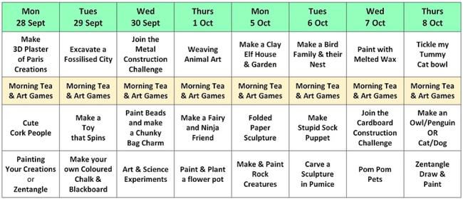 Art Classes - Sept/Oct Holiday 2020