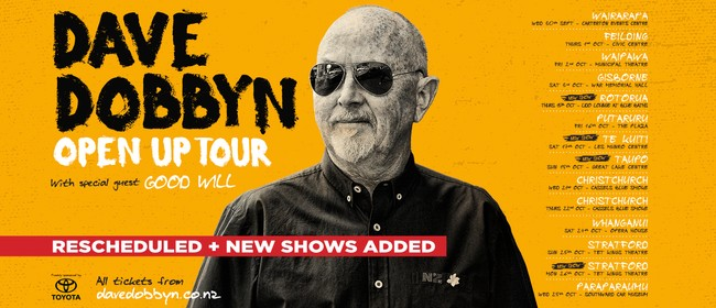 Dave Dobbyn - Open Up Tour