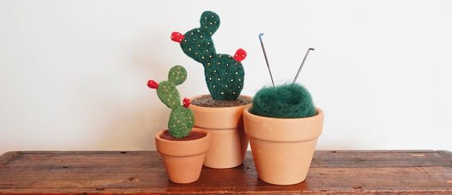 Cactus Needle Felting Workshop