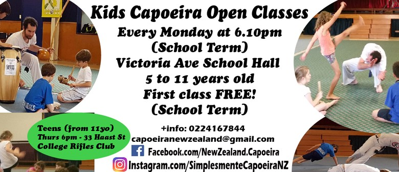 Kids Capoeira Classes Term 4