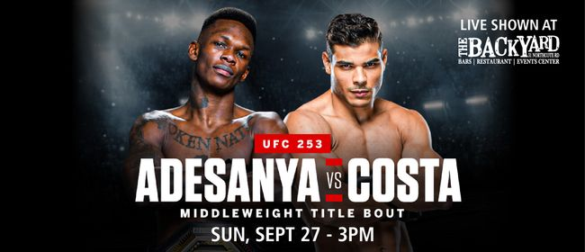 UFC 253 - Adesanya vs Costa Live