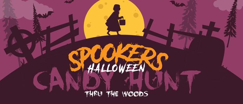 Kids Halloween Candy Treat Hunt through 'The Woods'