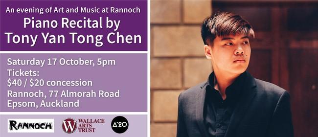 An evening of art & music: Tony Yan Tong Chen Piano Recital