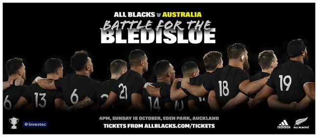 Bledisloe Cup: All Blacks v Australia Match 2