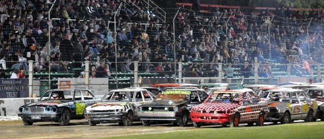 Demolition Derby! Prestige Pools Waikaraka Speedway