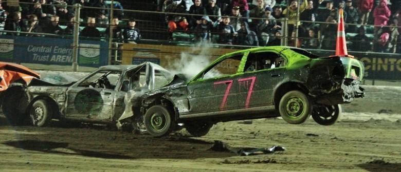 Ramp Demo Derby!!! Prestige Pools Waikaraka Speedway
