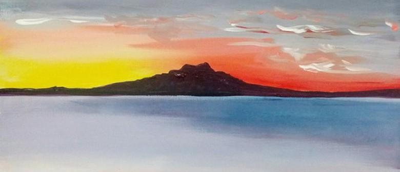 Paint and Wine Night - Rangitoto Sunrise
