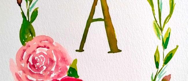 Watercolour & Wine - Letter Wreath