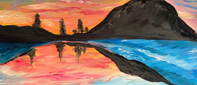 Paint and Wine Night - Sunset At The Mount - Paintvine