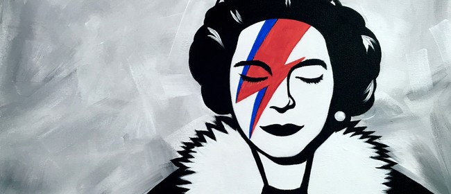 Paint and Wine Night - Banksy Save The Queen