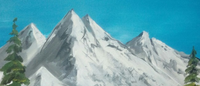 Paint and Wine Night - B Ross Snowy Mountains - Paintvine