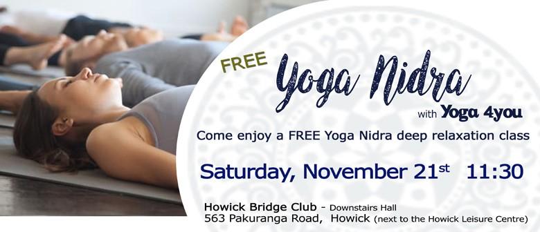 Free Yoga Nidra in Howick