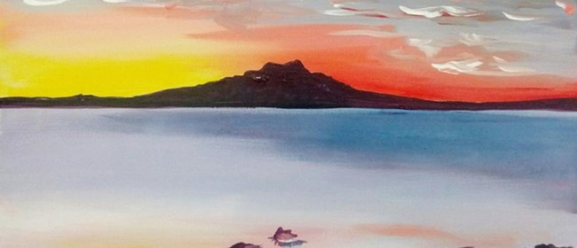 Paint & Wine Night - Rangitoto Sunrise - Paintvine