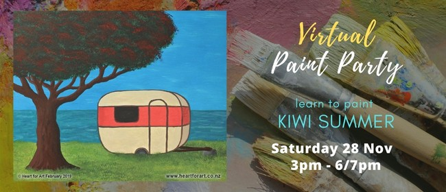 Paint Your Own Kiwi Summer With Heart for Art NZ