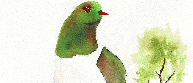 Watercolour & Wine Night - Kereru
