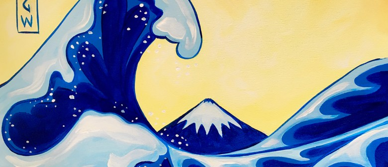 Paint and Wine Night - The Great Wave