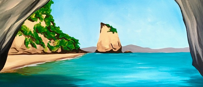 Paint & Wine Night - Cathedral Cove - Paintvine
